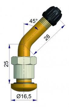 Вентиль латунный б/к  R-2123-2